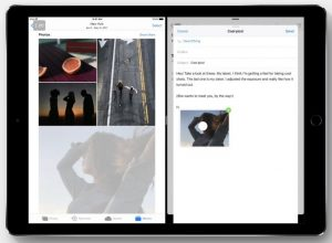 You can also drag and drop photos and hyperlinks across split-screen apps