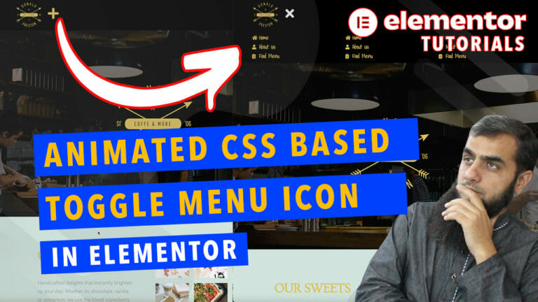 animated css toggle menu icon